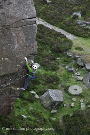 Masters of the Universe, E7 6c, Burbage South © Mike Hutton