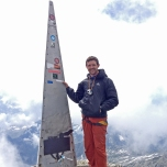 Guy on the Piz Badile Summit (3305m)