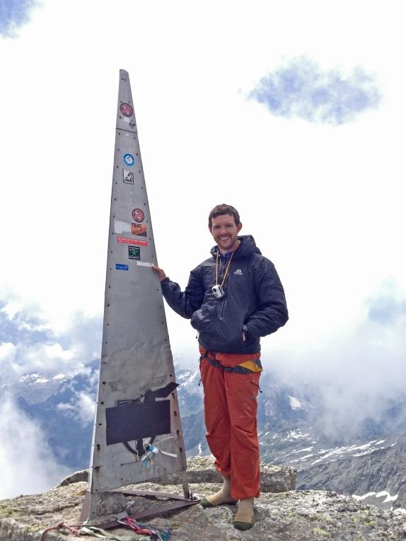 Guy on the Piz Badile Summit (3305m)