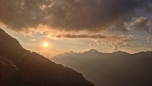 Sunset from bivvy © Oli Grounsell