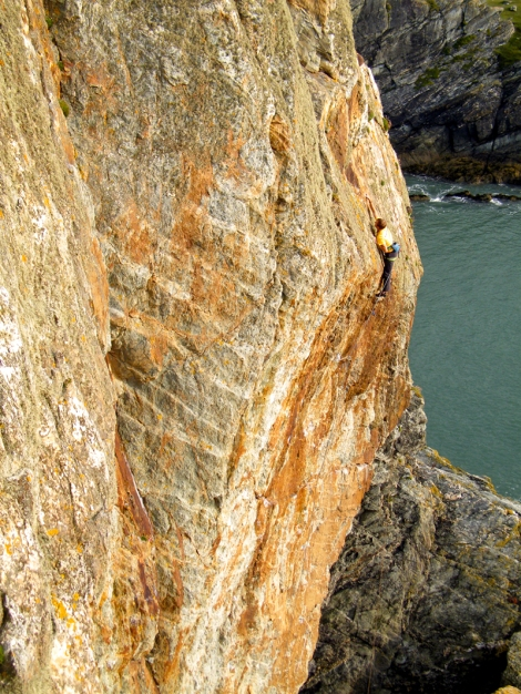 Flashing Gimble in the Wabe E7 6b © Jemma Powell