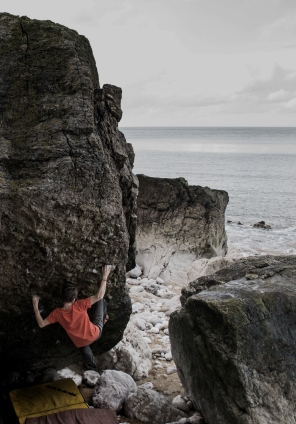 Fish Pie (7C+), Pigeon Boulders © Kieran King