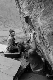 Anna equally as focussed on The Pinch as Nathan © Oli Grounsell