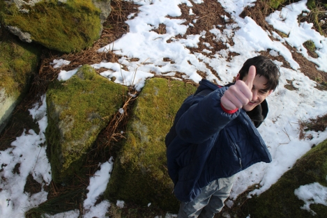 ey up lad, gritLAD happy with winter © Oli Grounsell