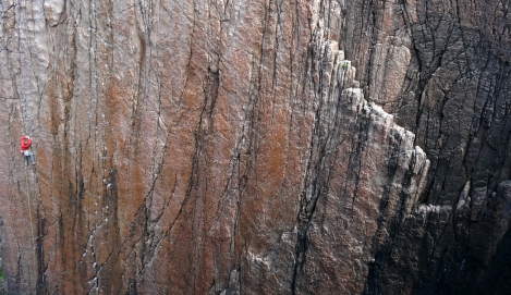 Amazing rock architecture on the Holy Jaysus Wall © Oli Grounsell