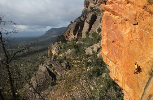 Jack on Eau Rouge, Lost World, Grampians, Australia © Oli Grounsell