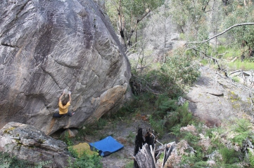 Ben Grounsell on Great Expectations (V9, Grampians)