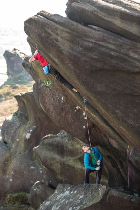 Ramshaw Crack (E4 6a) © Andrew Burr